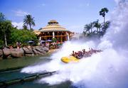 Universal's Jurassic Park River Adventures has an 85-foot plunge at the end of the ride.