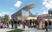 This view shows one entry to the stadium. D.C. United has been trying to build a new stadium for at least a decade. It previously announced a deal for Prince George's County and Poplar Point, but both of those fell through. Baltimore has also tried to lure the team there.