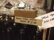 Soap made from East End Brewing's Black Strap Stout. Smith said East End works to offer a variety of merchandise for the sales operation it maintains at the Pittsburgh Public Market in the Strip District, where tourists want to buy something but might be reluctant or unable to travel with growlers of beer.