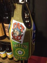 Don't call it a cozy. Instead, it's a beer koozie, a pouch in which to carry an East End Brewing growler of beer.