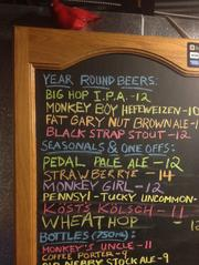 The beers currently available on tap at East End Brewing Co.