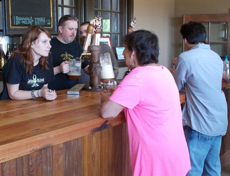 Jester King employees have been giving visitors a taste of their brew for quite some time, but now they can actually sell the suds on site.