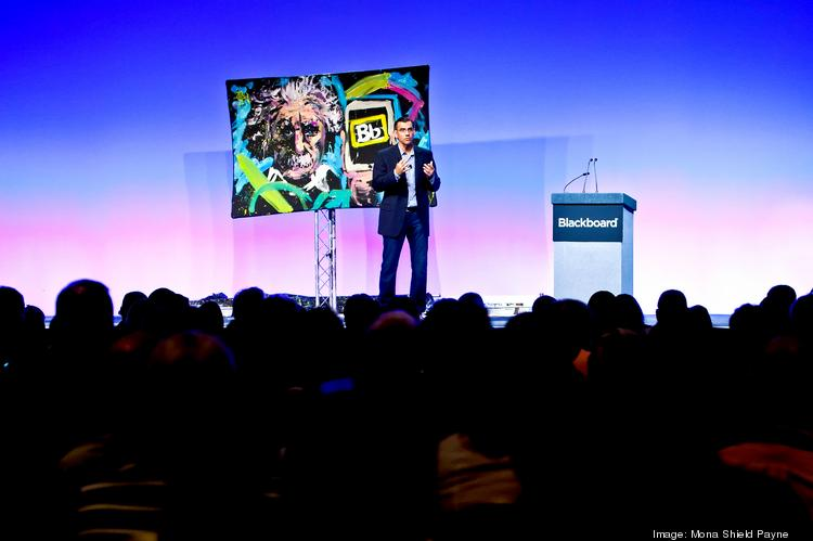 New Blackboard CEO Jay Bhatt speaks at the BbWorld conference in Vegas earlier this month, earning positive reviews for his vision for the company.