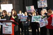 Terri Hall, founder and director of Texans Uniting for Reform and Freedom, voiced concern at the Capitol Tuesday over legislation regarding tolls.