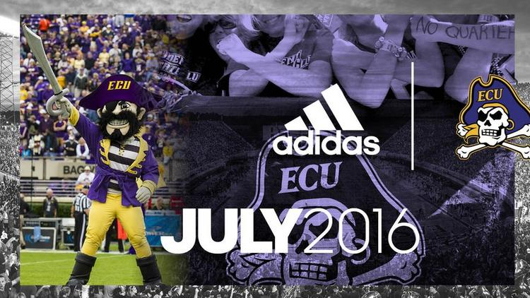 sale retailer 32745 9dfb1 East Carolina University announces jump from Nike to Adidas ...