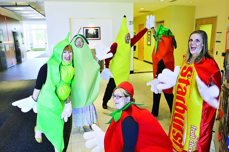 Pinnacol Assurance employees act as the company's everyday wellness ambassadors. They help promote  wellness activities, and by dressing in costume, help draw attention to the program.
