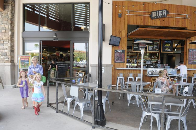 Whole Foods in Folsom has a beer garden just outside its doors.