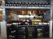 Cafe Mueller in the new HEB store includes a wine bar and beer on tap.