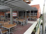 Shoppers can enjoy dining on a patio at the new store in Mueller.