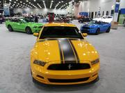 A variety of Ford Mustangs.
