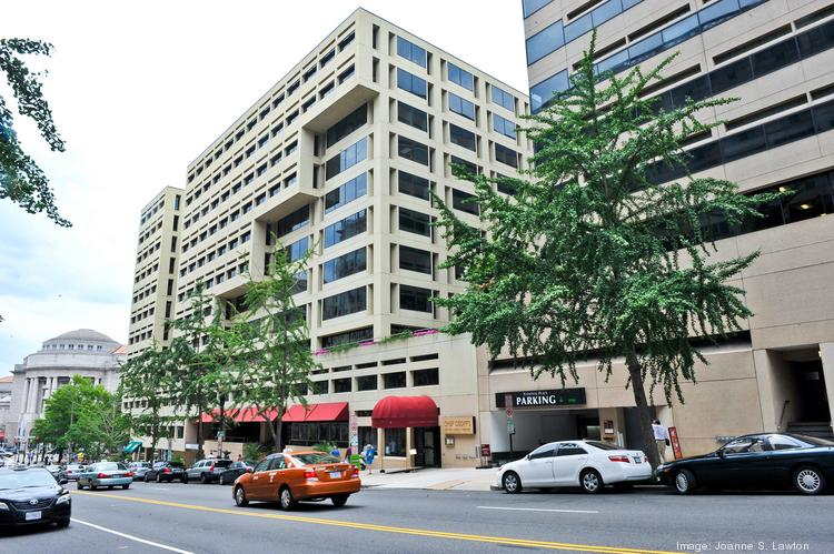 Quadrangle wants to replace the building at 1301 Pennsylvania Ave. NW and adjacent properties with a new 1.4 million-square-foot building, below, but that means Chef Geoff's would have to temporarily close its most profitable restaurant.