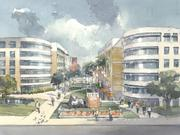 An artist's rendering of the USF Housing Village, which will replace a 1960s-built residential complex.