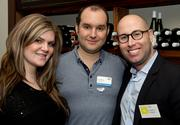 The Capital Area Gay & Lesbian Chamber of Commerce held an event Feb. 26 at Main Event Catering in Arlington, sponsored by Medalase Aesthetic Centers. From left, Hannah Crory of Medalase, David Rowley of Minuteman Press Crystal City and Alex Page of Medalase.