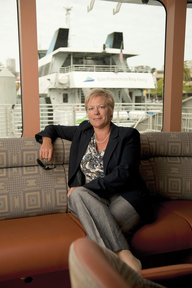 """Ferry godmother: """"We have this liquid highway and we should be using it,"""" says Nina Rannells of the Water Emergency Transportation Authority."""