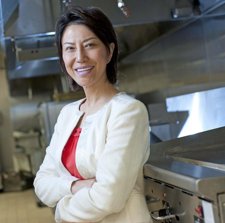 Marie Zhang, chief food innovation officer for Long John Silver's, is shown in the company's test kitchen.