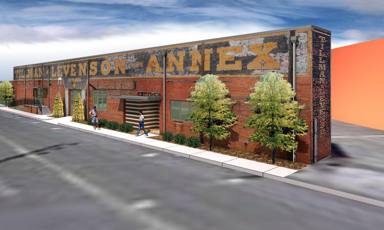 The Tillman-Levenson Annex warehouse downtown,which is slated for a coffee roaster and a food truck kitchen, is one of The Redmont Group's projects.