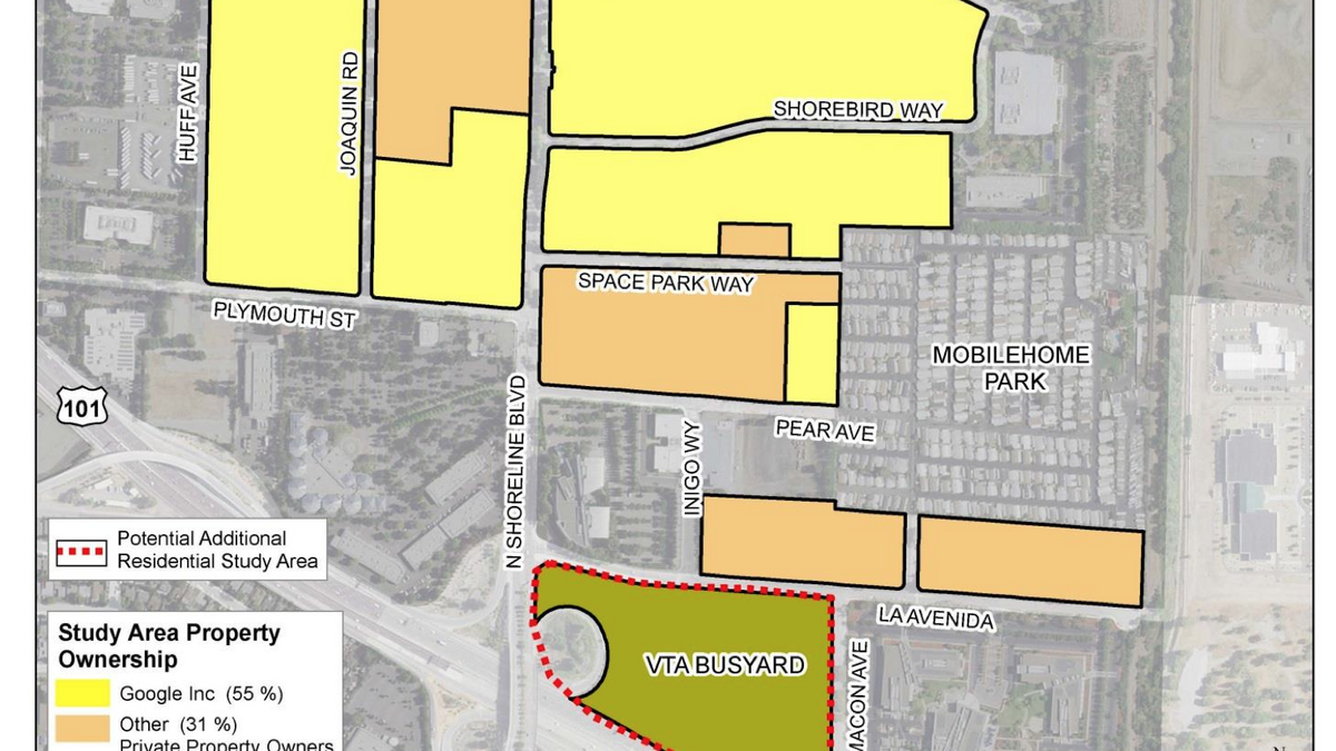 Mountain View Moves Forward With 9100 Unit Maximum Option For North Bayshore District