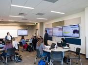 A Colorado State University-Pueblo classroom that's been built to active learning specifications and designed by Hord Coplan Macht.