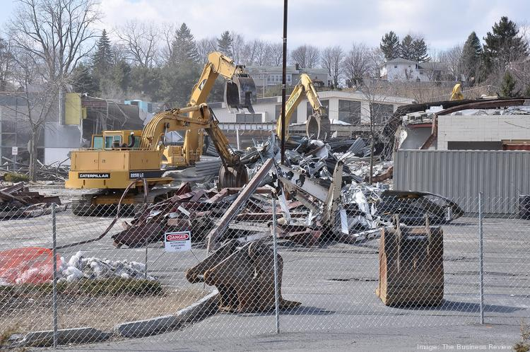Latham Circle Mall demolition from earlier this year at the Albany, NY area shopping center.