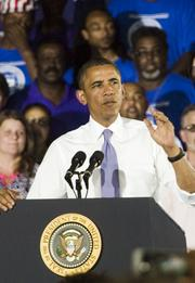 President Barack Obama gave a speech at Jaxport's Cruise Terminal Thursday afternoon that touched on his ideas on growing the U.S. economy.