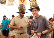 Mike Kirchoff and Chris Milner sport stylish Munich O'fest hats.