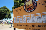 Signage directs attendees to their favorite brewers.