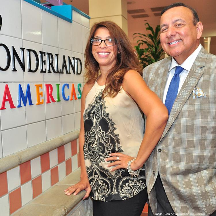 (L to R) Victoria Hernandez and Oscar Montemayor are part of the marketing and leasing energy behind Wonderland of the Americas.