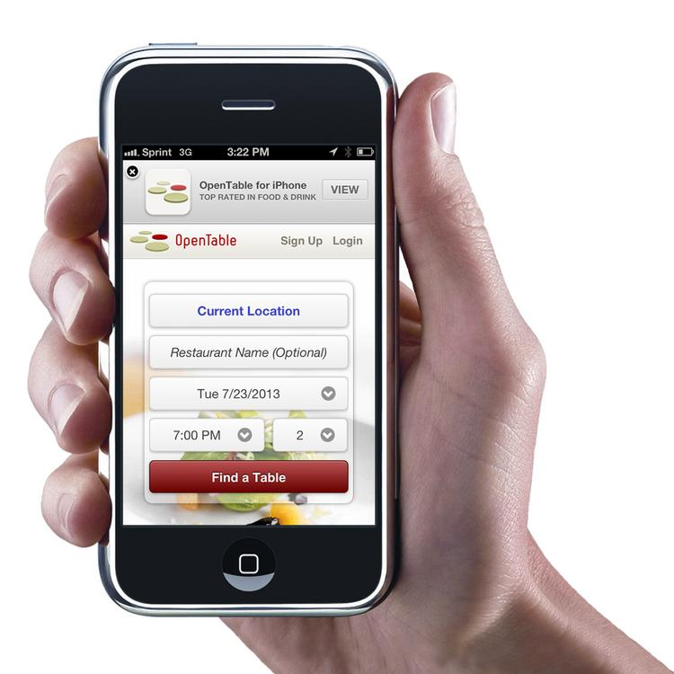OpenTable is beginning to test mobile payments.