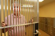 Jose Vivero, chairman and CEO of Century Bank of Florida, at the bank's vault. He made me feel so welcomed from the start and was willing to do anything I asked, like posing behind bars in his vault.