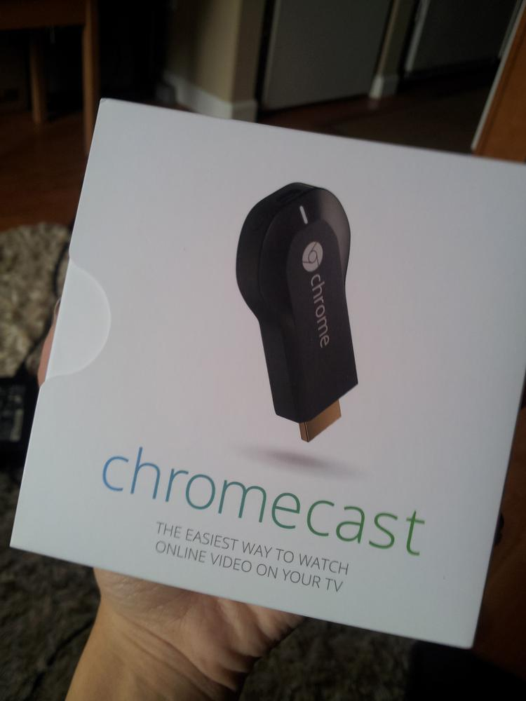 It's here! Amazon delivered my Chromecast less than 24 hours after I ordered it.  Click above to see more of my new Chromecast.
