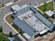 A July 2012 aerial of the future proton therapy site.