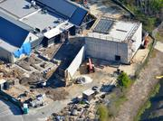 A March 2013 aerial of the future proton therapy site.