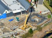 A November 2012 aerial of the future proton therapy site.