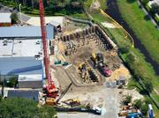 A September 2012 aerial of the future proton therapy site.