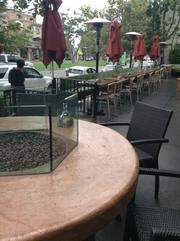 One of the finest patios on San Vicente Boulevard