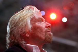 Richard Branson, chairman and founder of Virgin Group Ltd., travels the world to dispense wisdom about entrepreneurship.
