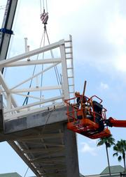 Once finished, the bridge will connect four major hotels to the Orange County Convention Center.