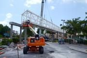 Crews continue to work on the bridge, which is expected to be completed by mid-September.