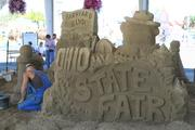Greg Batauski, an award-winning master sand carver from Columbus, and his crew at Rock on Ice will create sand sculptures throughout the fair's run.