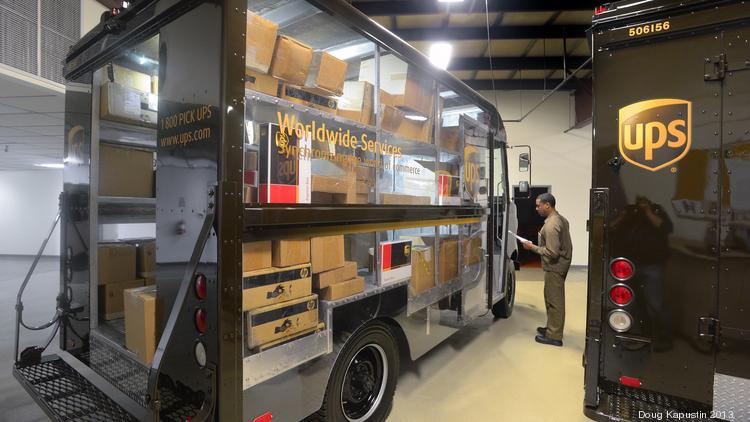 At UPS Integrad, students use a transparent package car to learn how to safely and efficiently select packages for delivery.