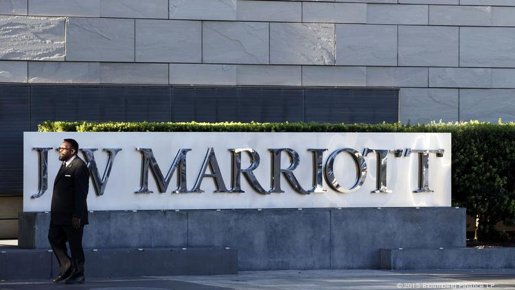 Among the brands of Marriott International Hotels is JW Marriott, shown here at at the L.A. LIVE entertainment complex in downtown Los Angeles.