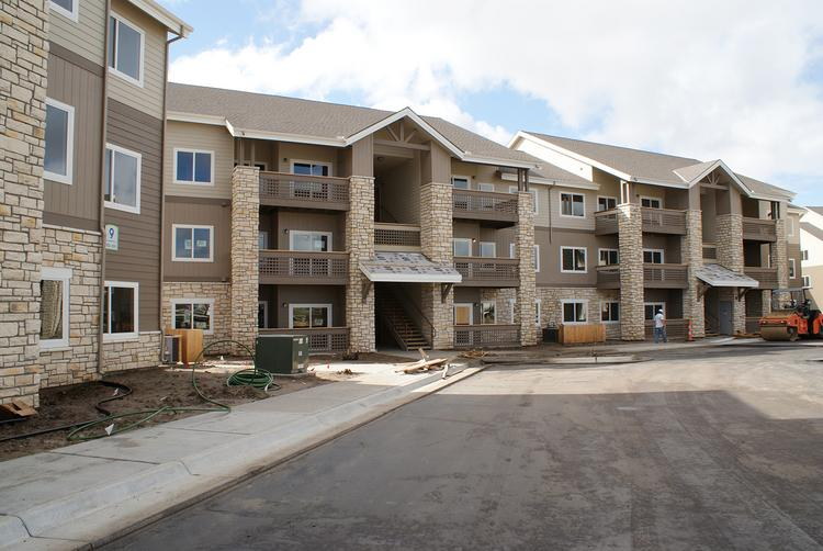 Units at Chisholm Lake range from 700 square feet to 1,100. Developers expect rents of $1.15 to $1.20 per square foot: about $800 to $1,300 a month.
