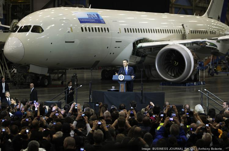 Celebratory Everett events, such as President Barack Obama's 2012 visit to the 787 line, could start to dwindle in Everett.