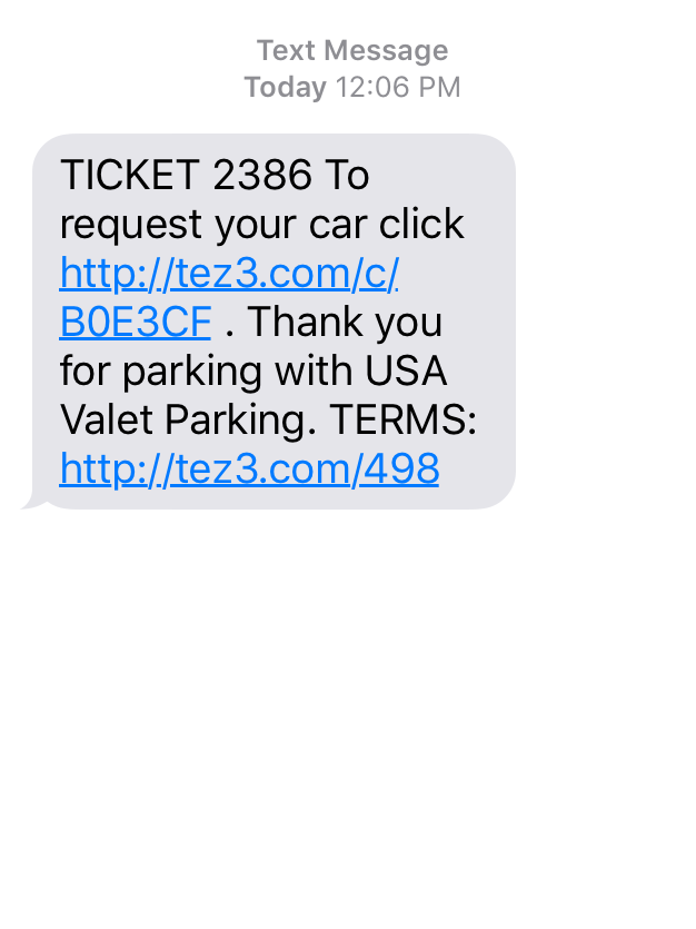 USA Valet Parking offers texting technology for valet parking