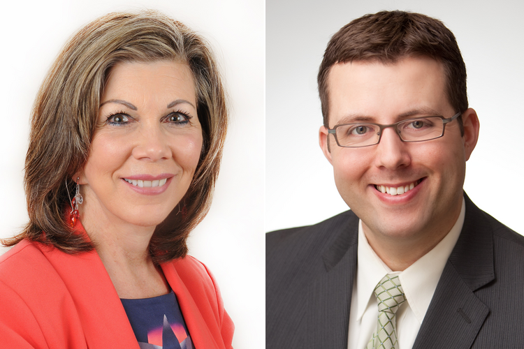 Coni Rathbone, left, and Jesse Calm are attorneys with Zupancic Rathbone Law Group P.C.