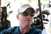 Portland real estate developer Sean Keys pauses during the Brody Borlaug Memorial Golf Tournament, held in July at Wildwood Golf Course.