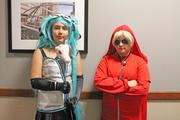 Angel Pesula, left, and Tiffany Smith were in character at the Galt House Hotel during FandomFest.