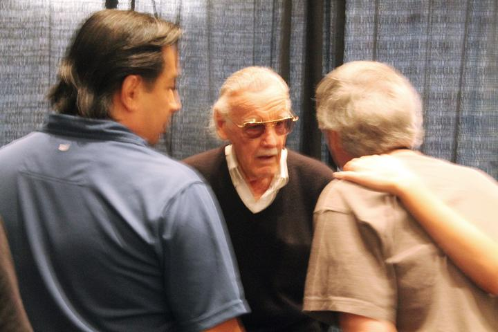 Marvel Comics' Stan Lee - who created Spider-Man, the X-Men and the Fantastic Four among others - meets with fans.