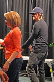"""""""The Walking Dead"""" had several cast members appearing at FandomFest, including Norman Reedus, right, who plays Daryl."""