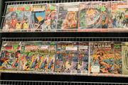 Comic books lined the walls of several booths at FandomFest, a local comic-con event.